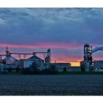 Sun setting behind the United Ethanol plant near Milton, Wis. (chumlee10 via Flickr)