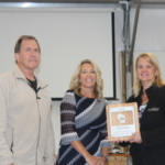 Pictured from left to right: John Pade, Nelson and Pade co-founder, Tricia Braun, WEDC COO, Rebecca Nelson, Nelson and Pade co-founder. (Nelson and Pade, Inc.)