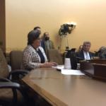 """In her testimony against AB353, Sarah Lloyd, Wisconsin Dells dairy farmer and Wisconsin Food Hub Cooperative representative, noted, """"Co-ops are not about profit-taking; they are designed to serve the interests of their members."""" (Courtesy of Wisconsin Farmers Union)"""