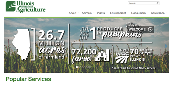 Illinois Department of Ag launches new site