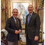 Governor Ricketts hosts Environmental Protection Agency Administrator Scott Pruitt at the Governor's Residence in Lincoln. (Courtesy of Office of Governor Pete Ricketts)