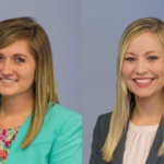 Caseelynn Johnston (left) and Willow Krumwiede (right), seniors who are pursuing a degree in agricultural science education from the University of Illinois, were named recipients of the Upper Division Agricultural Education Scholarship from the National Association of Agricultural Educators (NAAE). (Courtesy of University of Illinois College of ACES Agricultural Education Program)