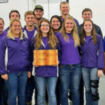 Members of the 2017 K-State Soils Judging Team. Back row (l ro r): Mickey Ransom (coach), Lucas Scott, Jacob Reinecker, Chris Weber. Middle row (l to r): Sarah Zerger, Logan Evers, Tessa Zee, Peter Bergkamp, Colby Moorberg (assistant coach). Front row (l to r): Tara Wilson, Megan Owens, Keren Duerksen, Erin Bush (assistant coach), Lance Howe (NRCS Soil Scientist, Redfield). (Courtesy of K-State Research and Extension)