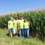 The Gieringer family in front of their corn field. (Courtesy of Kansas Corn)