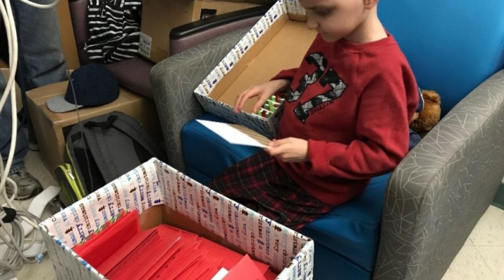 Terminally ill boy with wish for Christmas cards receives 14,000 in one day
