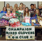 50 4-H members, leaders and friends in Champaign County recently stepped in to help their peers by providing comforting items for youth as they travel on the road to recovery. (Courtesy of University of Illinois Extension)