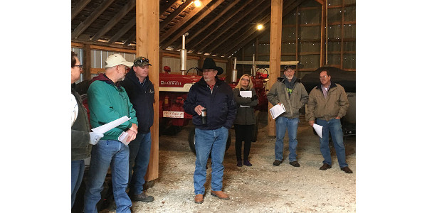 Greene County Commissioners, other members of Greene County leadership, and representatives of the Springfield Chamber and Springfield Visitors Bureau participated in a tour of local agriculture assets on Friday, Oct 27. (Courtesy of University of Missouri Extension)