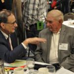 Commissioner Frederickson and Al Christopherson. (Courtesy of Minnesota Farm Bureau)