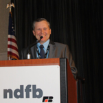 Delegates to the 75th NDFB Annual Meeting, held at the Holiday Inn, Fargo, Nov. 17-18, reelected Daryl Lies of Douglas, to a two-year term as NDFB President. (Courtesy of North Dakota Farm Bureau)