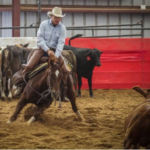 Jason Reed, 4th-generation owner of the Reed Ranch on Brushie Creek at Faith, South Dakota, is one of 15 contestants who have qualified for the World Finals in his class at the National Cutting Horse Association World Show in Ft. Worth, Texas on December 1 & 2, 2017. (Courtesy of Susie Reed)