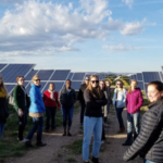 A recent PROGRESS networking event at Chrisman Field solar plant. (Credit: Ilana Pollack)