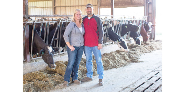Patty and Gary Edelburg and their twins own and operate a 130-cow dairy and 450 acres of corn and alfalfa in central Wisconsin. The Edelburgs get their health insurance through the ACA, and previously were unable to get health insurance. (Courtesy of WFU)
