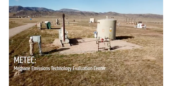 At METEC, researchers field test low-cost methane sensing technologies and evaluate their performance. (Screenshot from video)