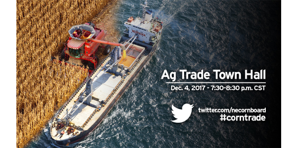 Corn Board to talk trade during Twitter town hall