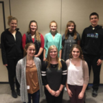 Eight youth have joined the North Dakota 4-H Ambassadors team. Pictured are (from left, front row): Eva Lahlum, Mary Goroski and Mara Bornemann; (back row) Victoria Christensen, Brittany Barnhardt, Nora Larson, Alyssa Kemp and Seth Nelson. (NDSU photo)