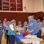On Saturday, November 11, over 200 volunteers gathered at Harrison County Middle School to pack over 16,000 meals for impoverished regions of Haiti. (Courtesy of Kentucky FFA Association)