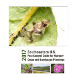 2017 Southeastern U.S. Pest Control Guide for Nursery Crops and Landscape Plantings can be downloaded free or purchased as a paperback book. (Courtesy of UK Extension)