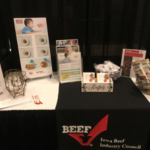 The Beef Checkoff Program in Iowa shared Beef as a First Food for Infants and Toddlers at the Iowa Academy of Family Physician's conference, held in Des Moines, Iowa on November 3rd. (Courtesy of Iowa Beef Industry Council)