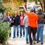 NCTA students greet visitors to campus. (Craig Chandler/NCTA file photo)