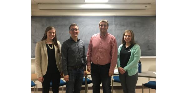 Left to right: Alison Wedig, Jordan Gaal, Connor Willems, and Rachel Gerbitz. (Courtesy of Collegiate Farm Bureau at the University of Wisconsin-Madison)