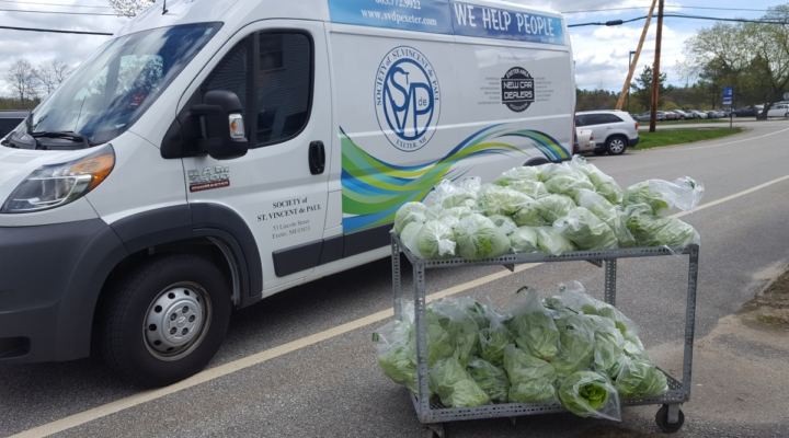 UNH donates fresh produce to food pantries