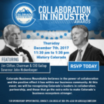 Colorado Business Roundtable will present the award on December 7 in Denver.