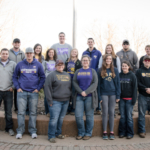 A group of 60 students from WIU's Agriculture Club recently won the national College Aggies Online competition for the third year in a row. The award was based on numerous agriculture awareness campaigns the students conducted on campus and in the community. (Courtesy of WIU)