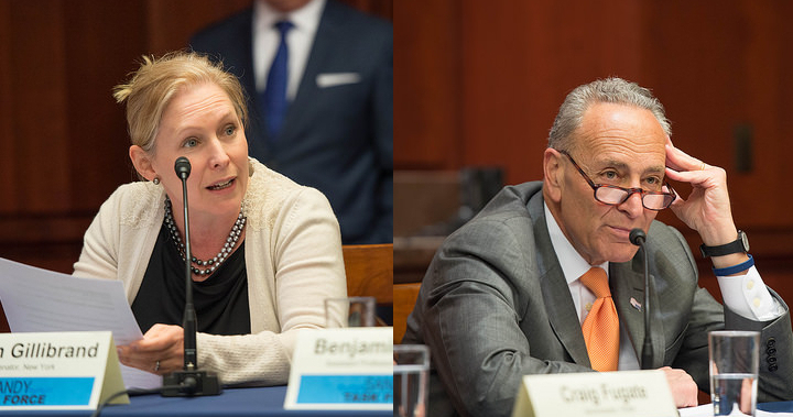 Senator Gillibrand, a member of the Senate Agriculture Committee and U.S. Senate Minority Leader Charles E. Schumer. (Senate Democrats, Flickr/Creative Commons)