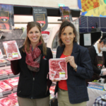 Dainna Smith, Iowa beef farmer from Decorah, and Tamara Heim, Iowa beef farmer from Logan, represented Iowa beef farmers at an in-store retail promotion in Japan that was checkoff funded through USMEF efforts. (Courtesy of Iowa Beef Industry Council)