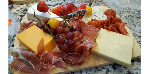 Cheese and charcuterie board demonstration