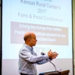 Ferd Hoefner, Senior Strategic Advisor for the National Coalition for Sustainable Agriculture (NSAC), spoke to the November Kansas Rural Center Food and Farm conference on the past, present and future of sustainable agriculture policy. (Courtesy of Kansas Rural Center)