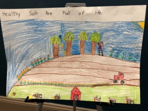 Poster by first grade student Brynn Marie Throener of Dodge, Neb.