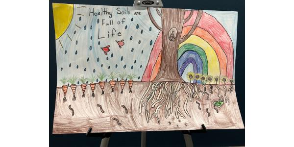 Winning poster by 3rd grade student Peyten Rose Becker from Dodge, Nebraska. (Courtesy of The Nebraska Association of Resources Districts)