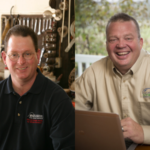 Illinois soybean farmers Jeff Lynn (right) and Mike Cunningham (left) are filling national leadership positions in the biodiesel industry. (Courtesy of Illinois Soybean Association)
