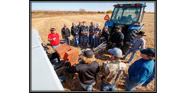 NCTA students, crops and machines