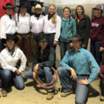 NCTA Ranch Horse Team students at the Loveland show are, kneeling, from left, Carly Wade, Monroe, Maine; Damian Wellman, Prairie View, Kansas; and Garison Fisher, Beaver City. Standing, from left, Kaitlyn Thesenvitz, Wood River; Courtney Leach, Lewellen; Sydney Boden, Ord; Huntra Christensen, Lincoln; Rebekah Miller, Basehor, Kansas; Shae DeNaeyer, Valentine; and Nicole Ackland, Martell. (NCTA Ranch Horse Team photo)