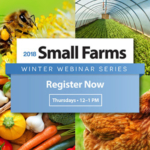 University of Illinois Extension will once again be hosting the Small Farms Winter Webinar Series, featuring practical lunch-hour presentations on small farm enterprises and strategies. Participants can tune in right from their desk or laptop every Thursday atnoonfromJanuary 18 through March 29, 2018. (Courtesy of University of Illinois Extension)