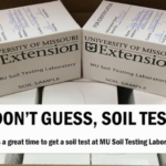 Fall is the best time to submit soil samples. (Courtesy of University of Missouri Extension)
