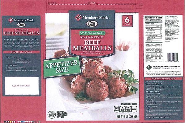 New Jersey company recalls beef meatballs
