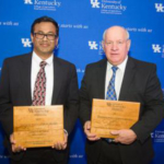 The college recognized Surendranath Suman and Warren Beeler for their excellence in research and agricultural leadership. (PHOTO: Matt Barton, UK Agricultural Communications)