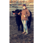 Montrose future farmer Josie has spent hours in the mud, snow & cold, training her calf to lead for her inaugural show appearance at the 2018 Sioux Empire Farm Show in Sioux Falls, SD. (Courtesy of Sioux Empire Farm Show)