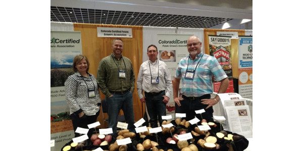 Lyla Davis, Justin Pepper, Sheldon Rockey and Kent Price. (Courtesy of Colorado Potato Administrative Committee)