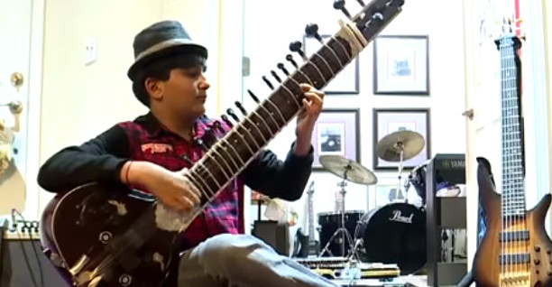 12-year-old prodigy plays 44 instruments with goal of 100