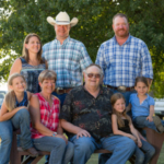 Kennedy Cattle Company of Atlantic, Iowa is a family farm. Featured are Steve & Judy Kennedy, Zak & Emily Kennedy with children Clara, Cassidy and Cadence, and Mitch Kennedy all working together to raise safe, affordable beef for consumers. (Courtesy of Iowa Beef Industry Council)