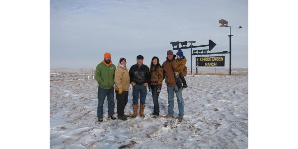 South Dakota Farmers Union has served South Dakota farm and ranch families for more than a century. Throughout the year, we share their stories in order to highlight the families who make up our state's No. 1 industry and help feed the world. This month we feature the Christensen Ranch family. Pictured here, Rick and NaLani Dunsmore, John Christensen, Cam and Tyler Fagerhaug and their son, Lawson, 3.(Courtesy of Lura Roti, SDFU)