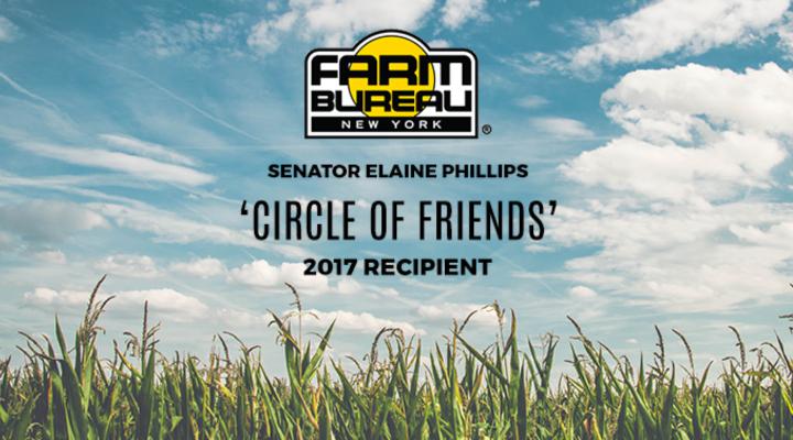 Sen. Elaine Phillips honored by NY Farm Bureau