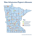 A map of more than 200 local water infrastructure projects statewide that are either moving ahead this year, or are waiting on additional funding. (Courtesy of Office of Governor Mark Dayton)