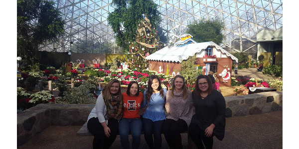 Students toured the Mitchell Park Horticultural Conservatory in Milwaukee, Wisconsin. (Courtesy of University of Illinois)