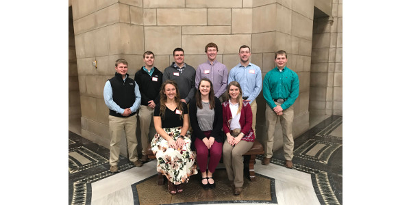 This year, 10 University of Nebraska-Lincoln students, as part of the 2018 Corn and Soy Collegiate Ambassador Program, are getting the chance to learn more about the agriculture industry. (Courtesy of The Nebraska Corn Growers Association)