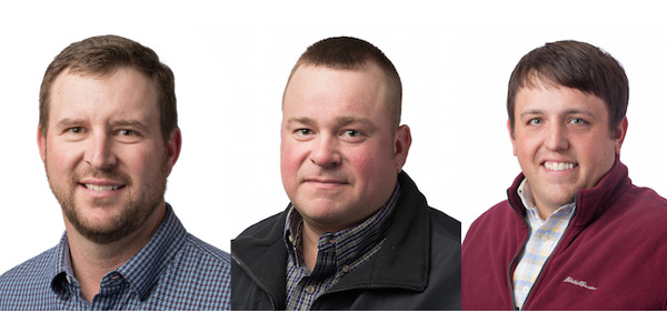 From left to right: Brent Rogers, J.D. Hanna and Matt Splitter. (Courtesy of Kansas Corn)